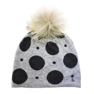 Bonnet Pois Grey