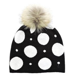 Bonnet Pois Black