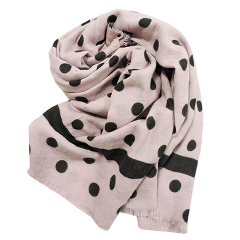 Scarf Pois Pink